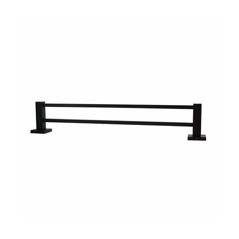 Block Double Towel Rail 800mm Black