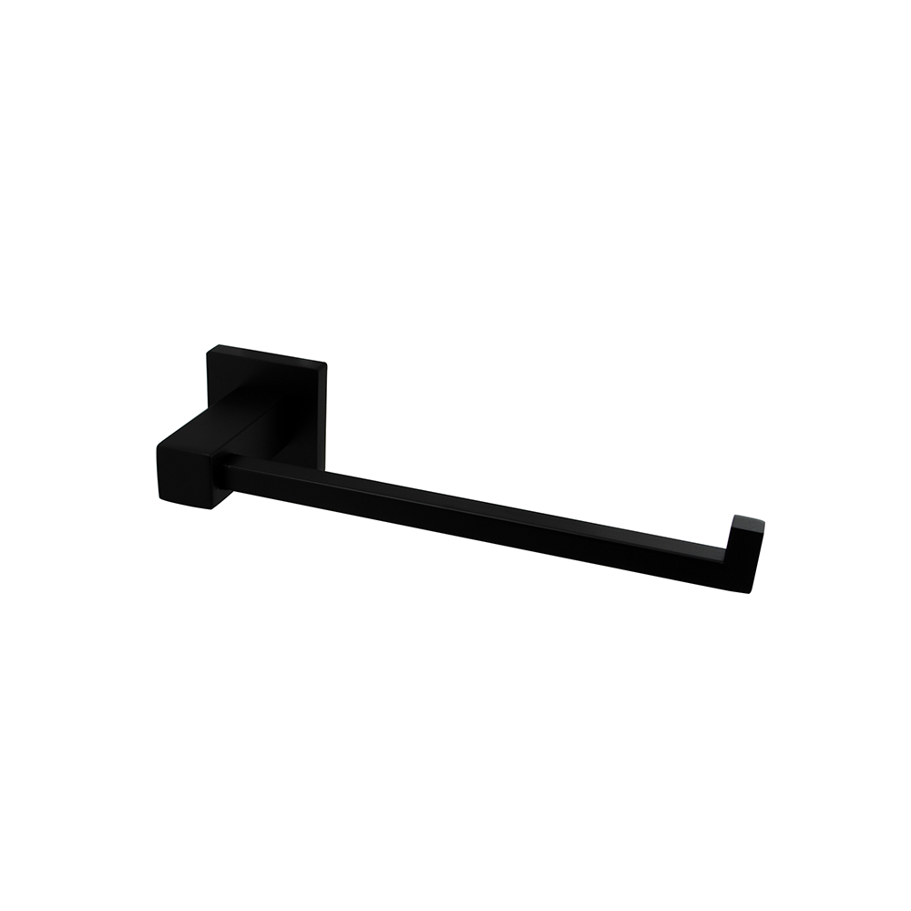 Block Hand Towel Ring 250mm Black