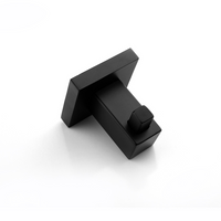 Block Robe Hook Black