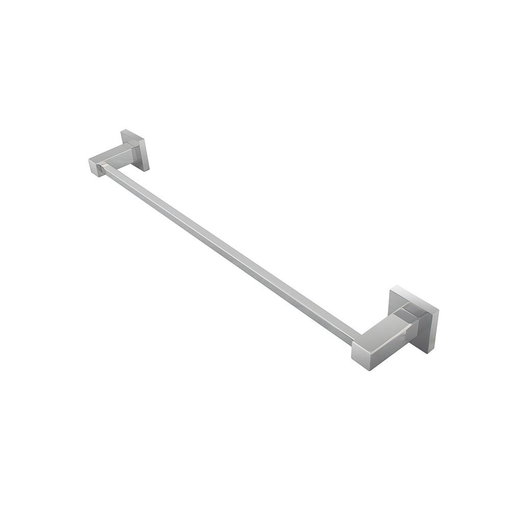 Block Single Towel Rail 800mm Chrome