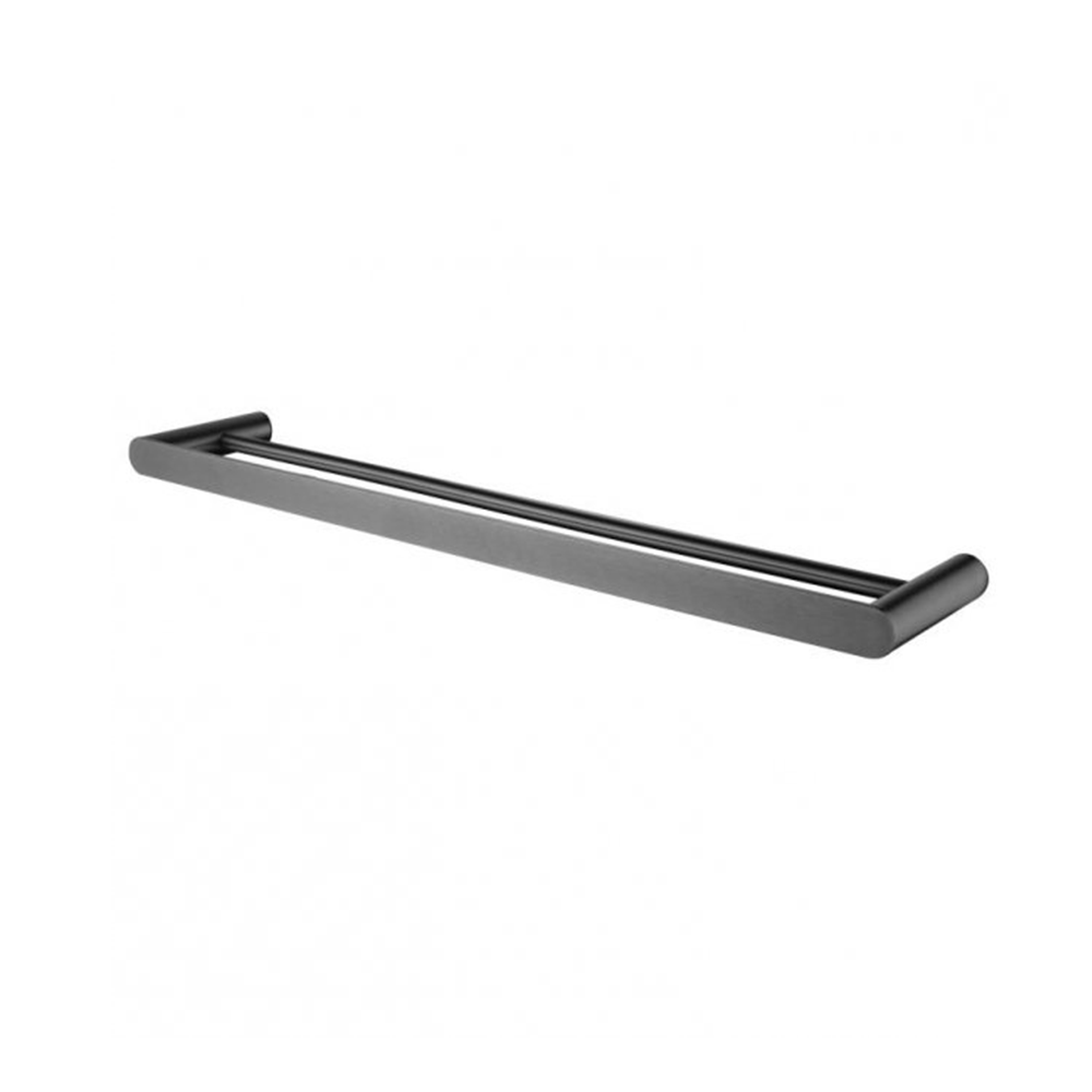 Hash Double Towel Rail 600mm Gunmetal Grey