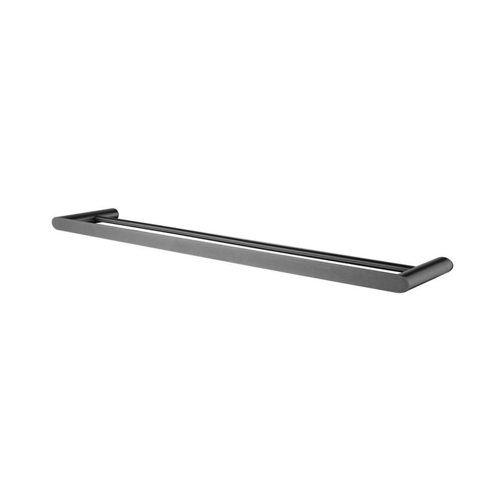 Hash Double Towel Rail 800mm Gunmetal Grey