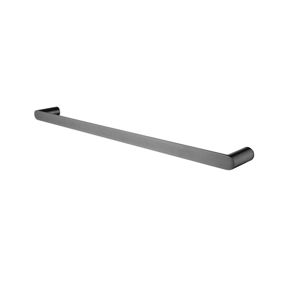 Hash Single Towel Rail 600mm Gunmetal Grey