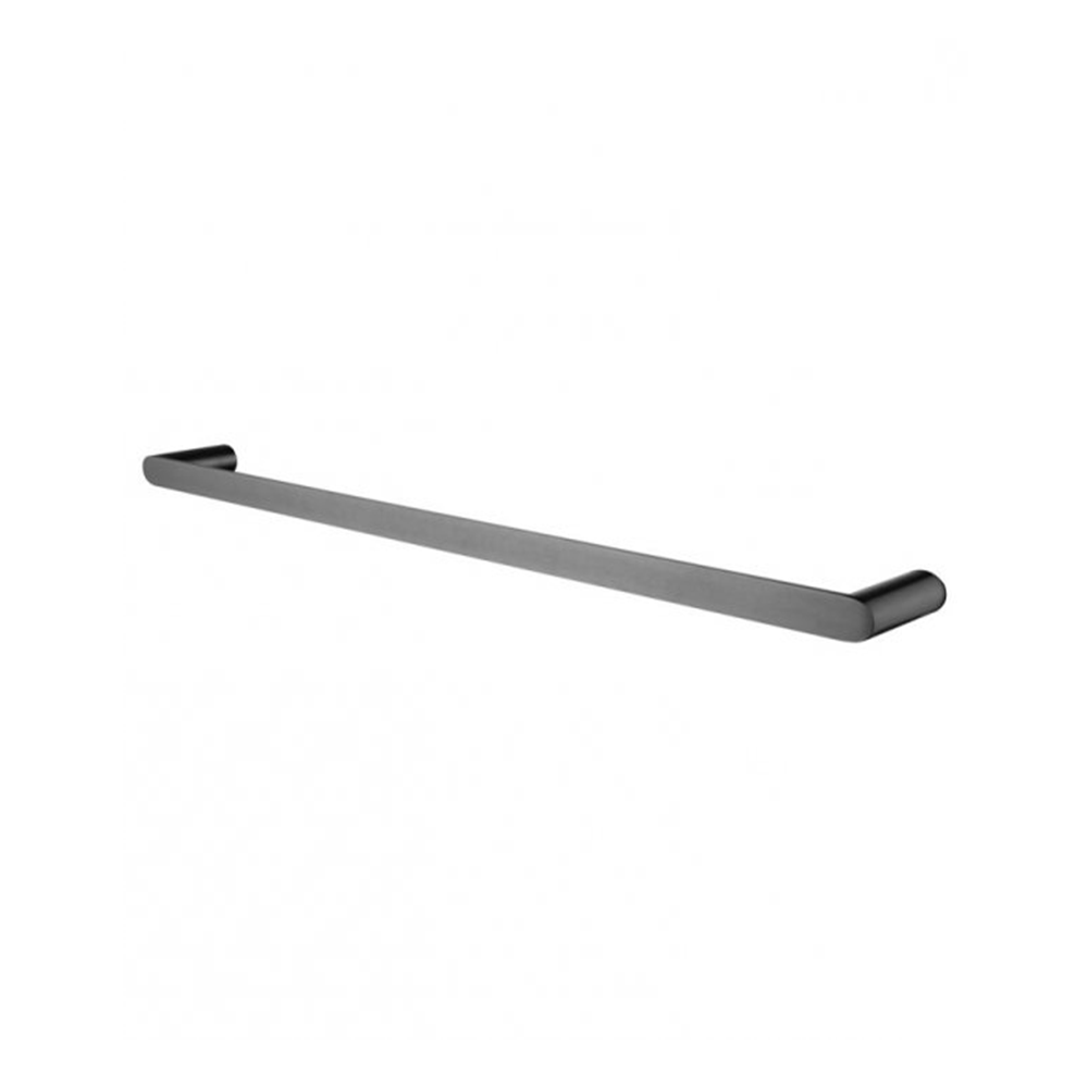Hash Single Towel Rail 800mm Gunmetal Grey