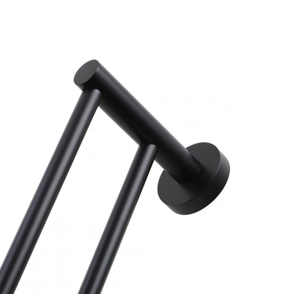 Louis Lever Double Towel Rail 790mm Black