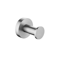 Petra Round Robe Hook Brushed Nickel