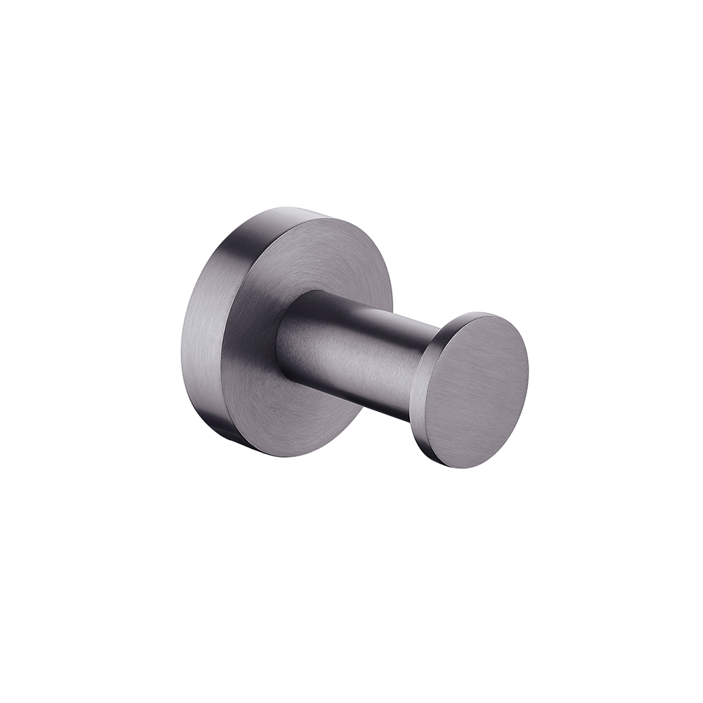 Petra Round Robe Hook Gunmetal Grey