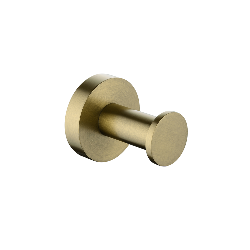 Petra Round Robe Hook Brushed Yellow Gold