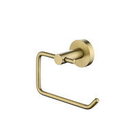 Petra Round Toilet Toilet Roll Holder Brushed Yellow Gold