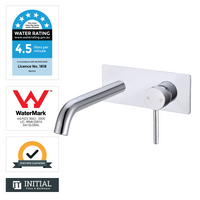 Bathroom Petra Bathtub Wall Mixer with Spout Chrome