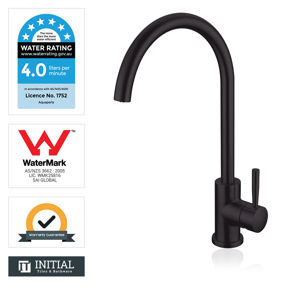 Kitchen Petra Swivel Sink Mixer Black