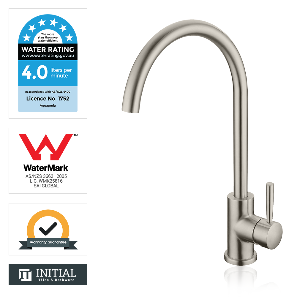 Kitchen Petra Swivel Sink Mixer Brushed Nickel