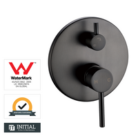Bathroom Petra Shower Wall Mixer with Diverter Gunmetal Grey