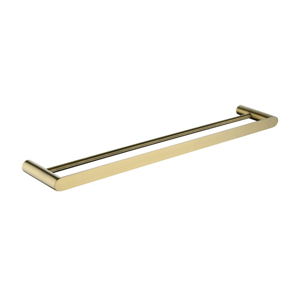 Speranza Double Towel Rail 600mm Brushed Yellow Gold