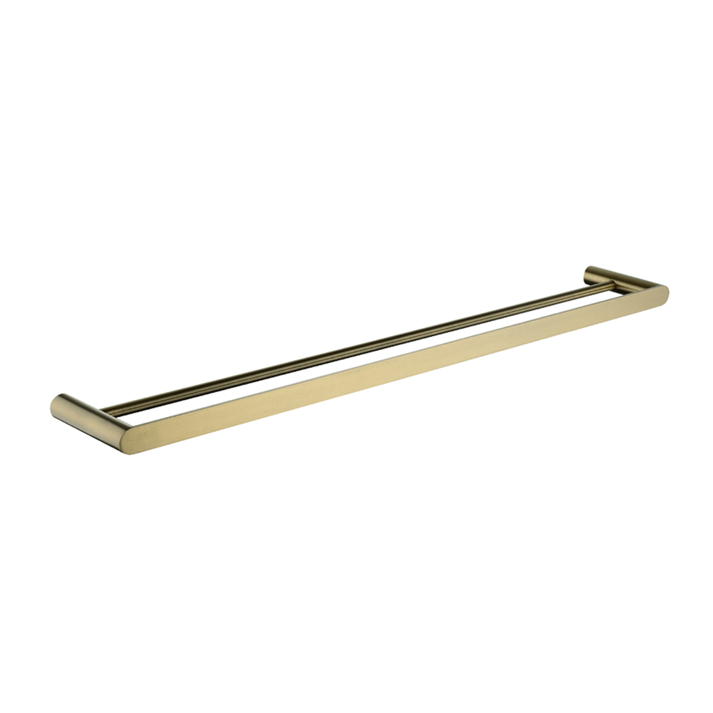 Speranza Double Towel Rail 800mm Brushed Yellow Gold
