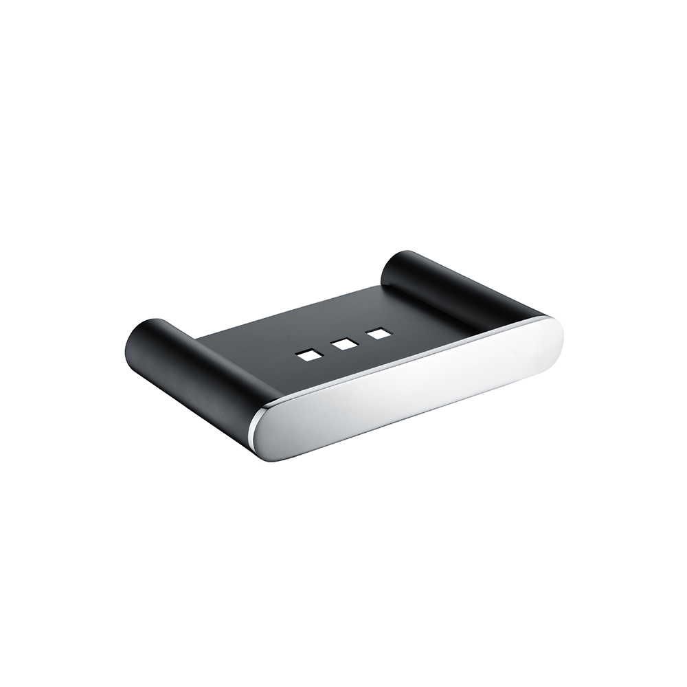 Speranza Soap Dish Chrome & Matt Black