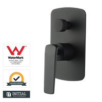 Bathroom Speranza Shower Wall Mixer with Diverter Black