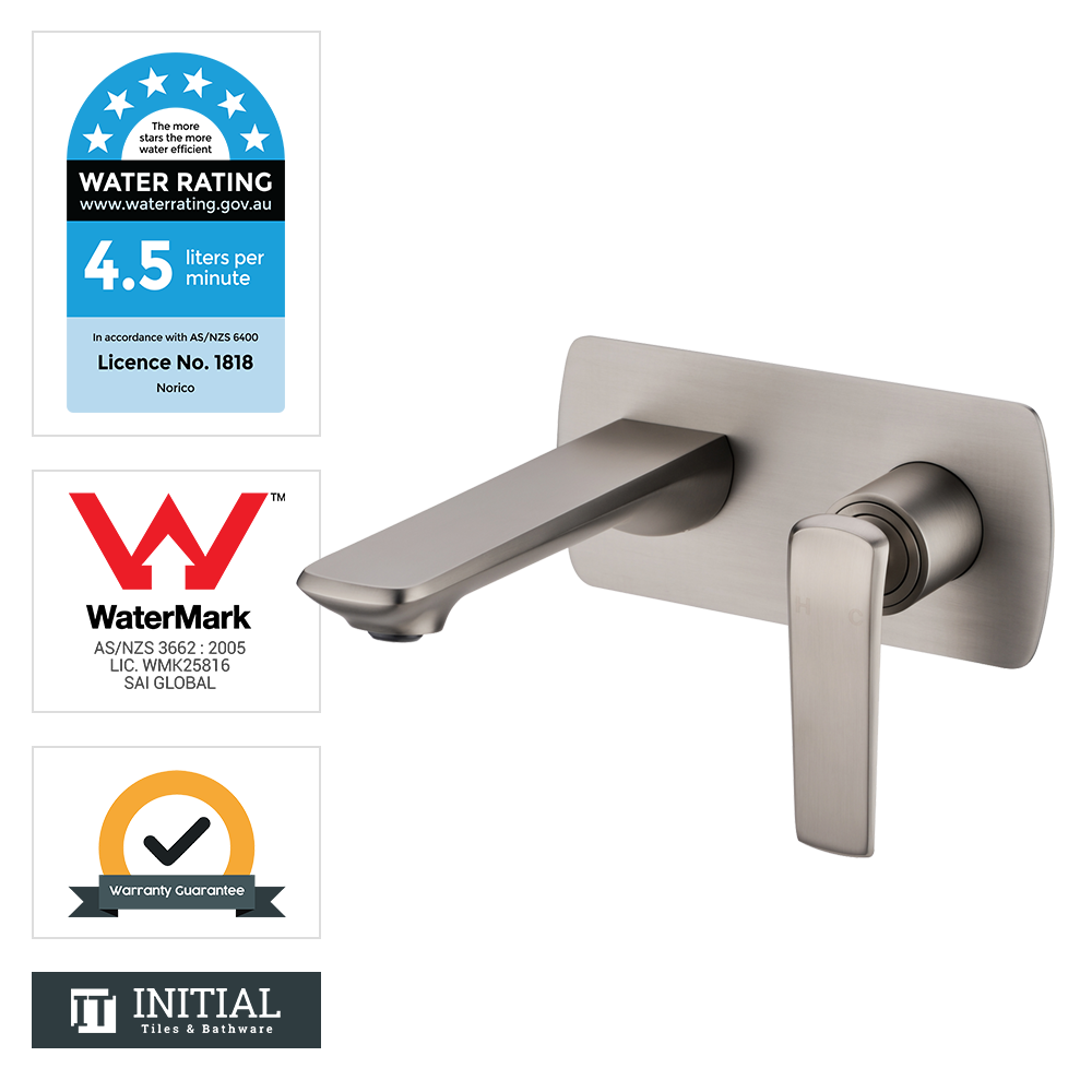 Bathroom Speranza Bathtub Wall Mixer with Spout Brushed Nickel