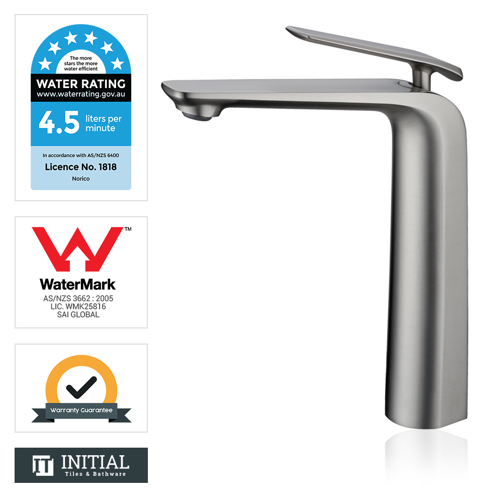 Bathroom Speranza Tall Basin Mixer Brushed Nickel