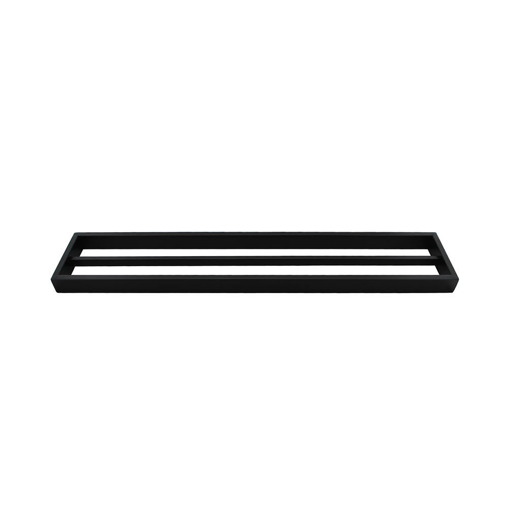 Tera Double Towel Rail 600mm Black
