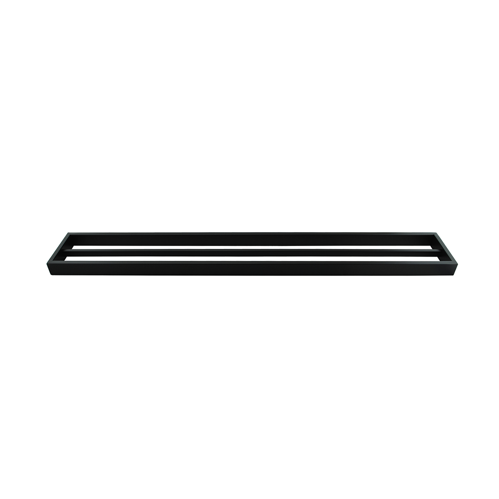 Tera Double Towel Rail 800mm Black