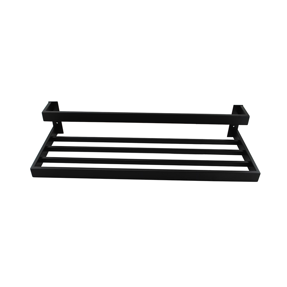 Tera Double Towel Holder 600mm Black