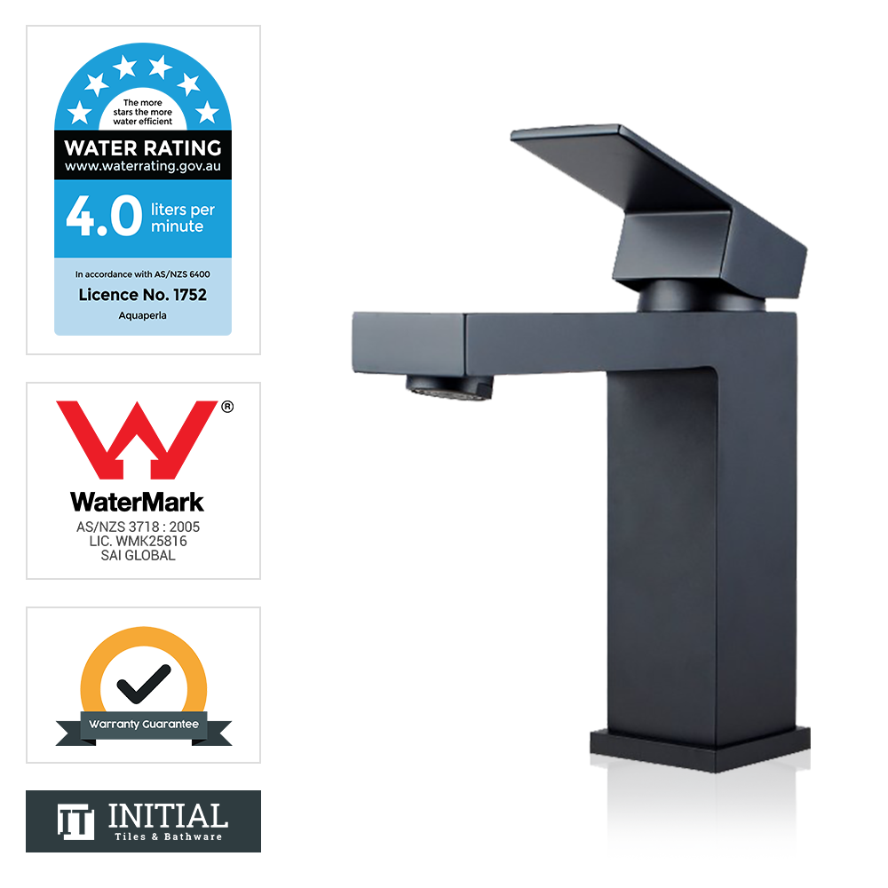 Bathroom Block Basin Mixer Black