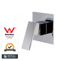 Bathroom Block Shower Wall Mixer Chrome