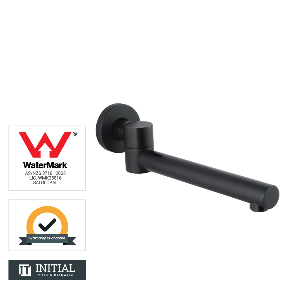 Bathroom Louis Lever Bath Wall Spout Black