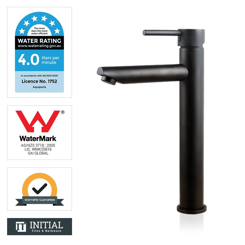 Bathroom Louis Lever Tall Basin Mixer Black