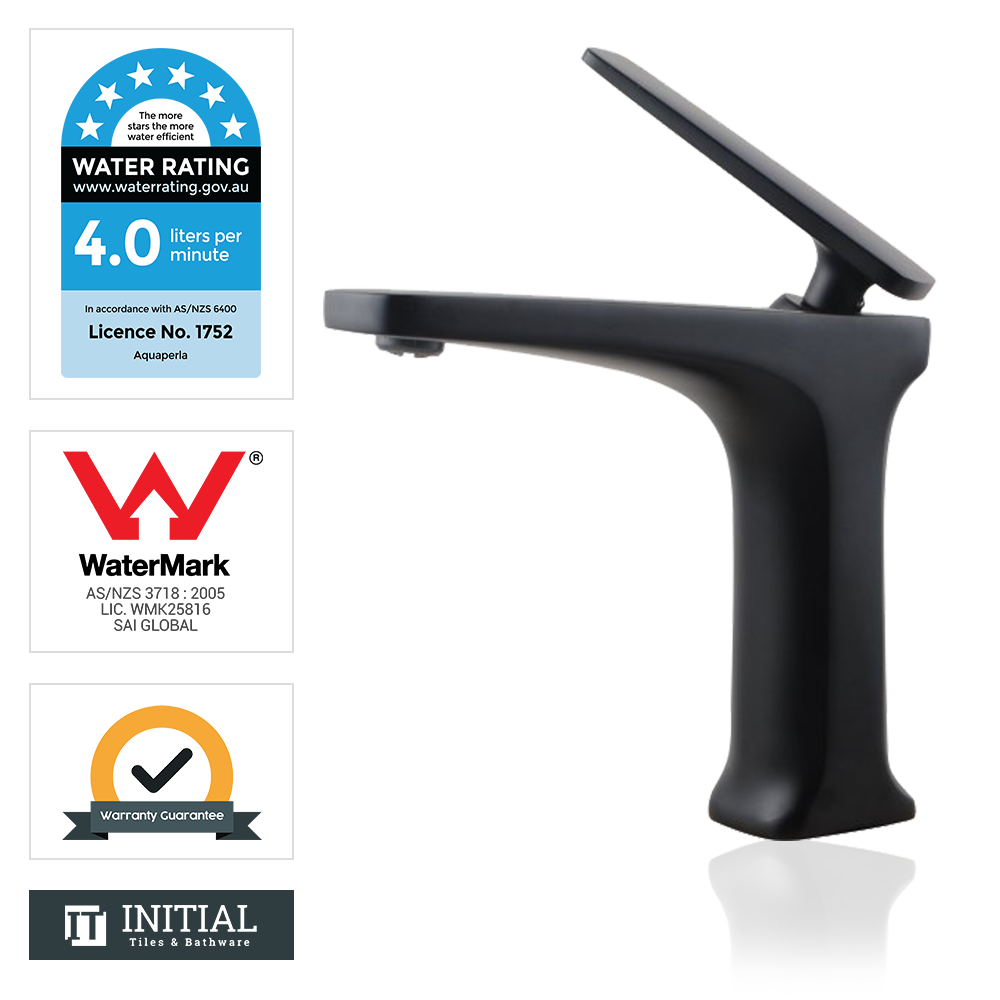 Bathroom Tera Basin Mixer Black