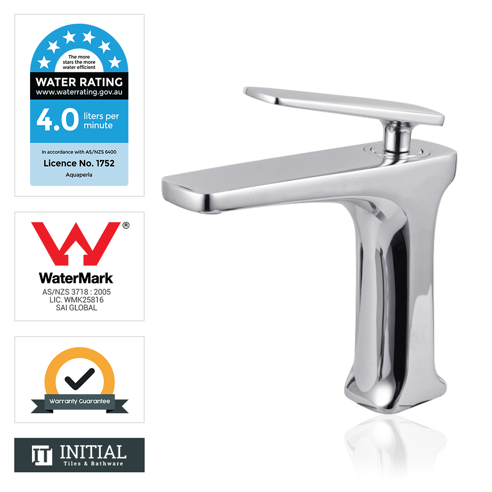 Bathroom Tera Basin Mixer Chrome