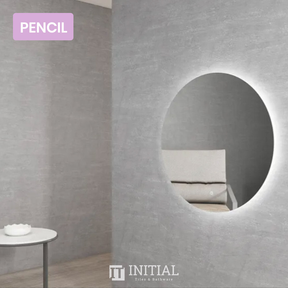 Bathroom Wall Mounted Coogee Led Frameless Round Mirror Pencil Edge 800MM