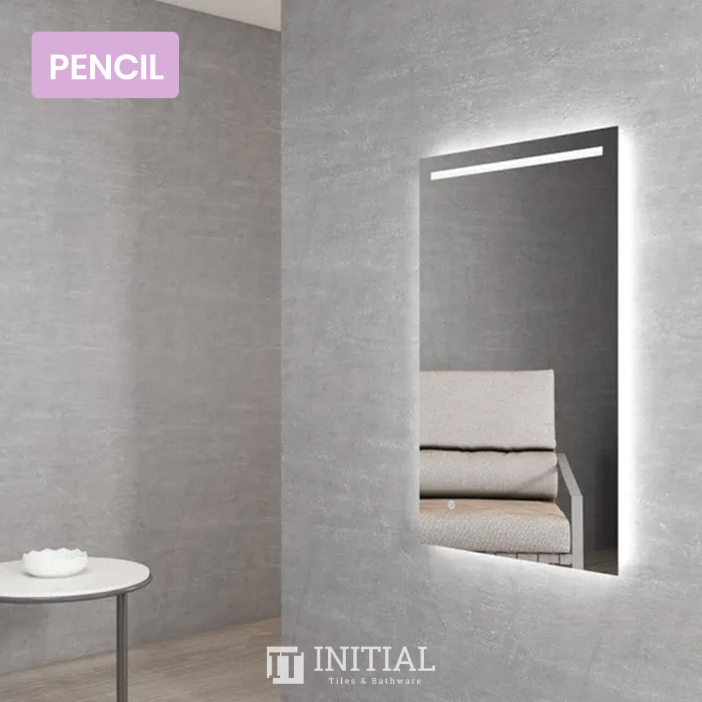 Bathroom Wall Mounted Boathouse Led Rectangle Mirror Pencil Edge 1000X600MM