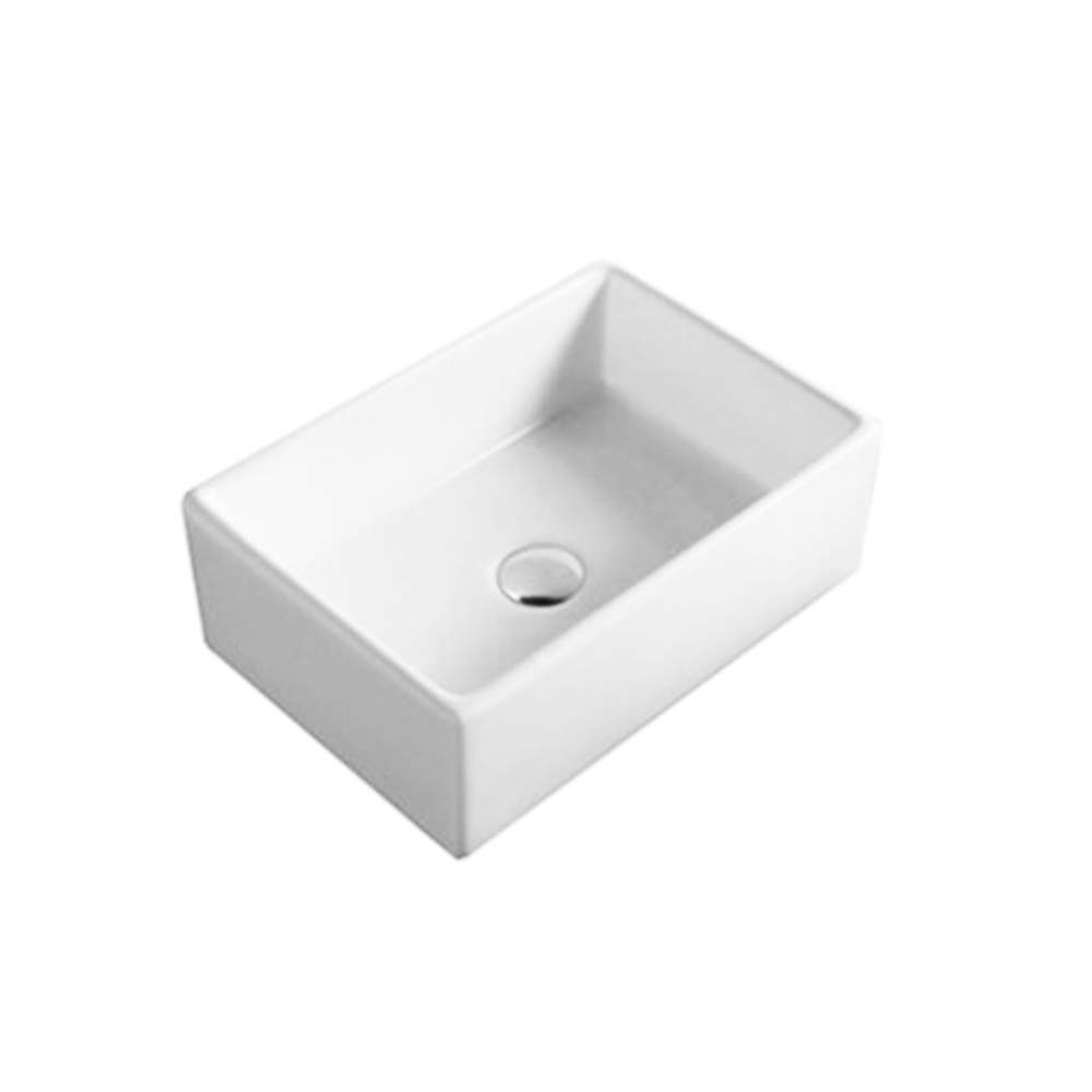 Gloss Rectangle Above Counter Basin White 460X330X160