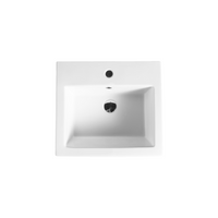 Gloss Rectangle Freestanding Ceramic Floor Basin White 510X460X850
