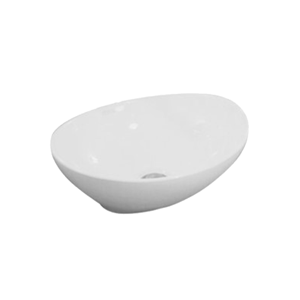Gloss Oval Above Counter Basin White 410X330X145