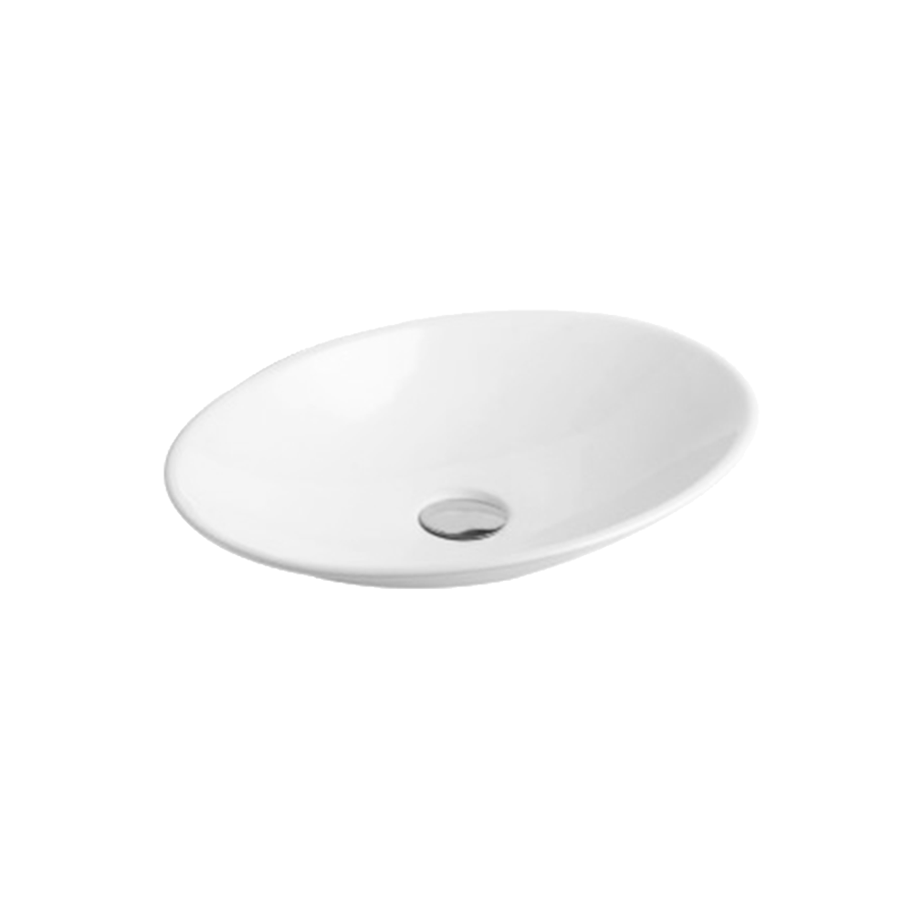 Gloss Oval Above Counter Basin White 510X350X95