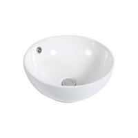 Gloss Round Above Counter Basin White 385X385X150