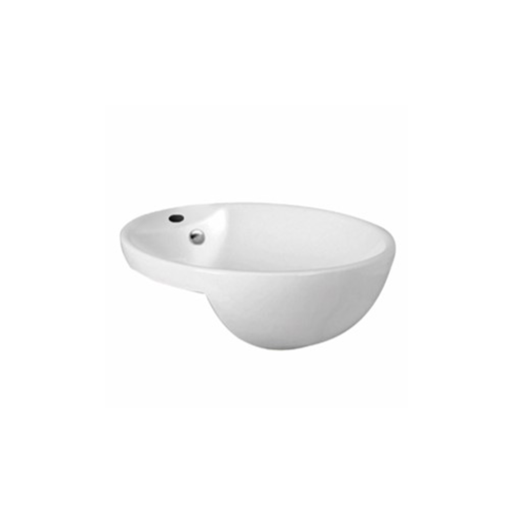 Gloss Round Semi Recessed Basin White 430X430X150