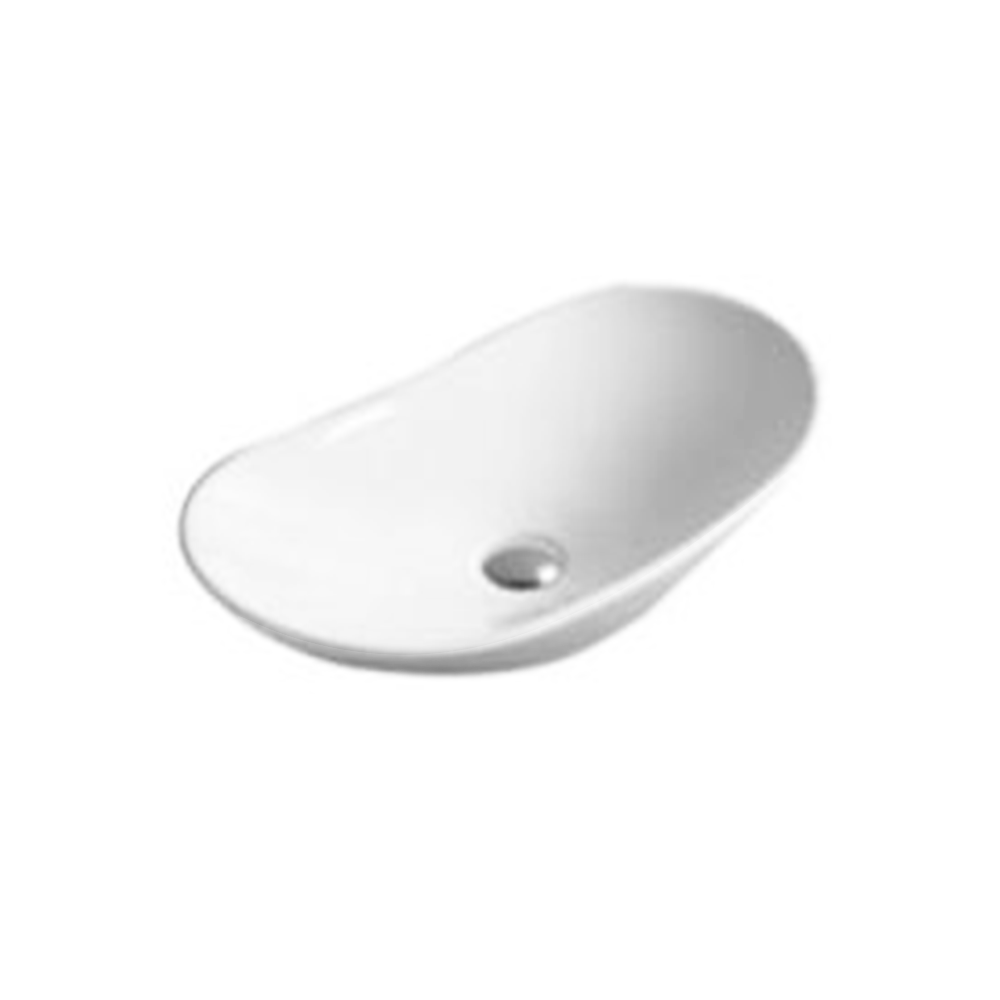 Gloss Oval Above Counter Basin White 620X360X160