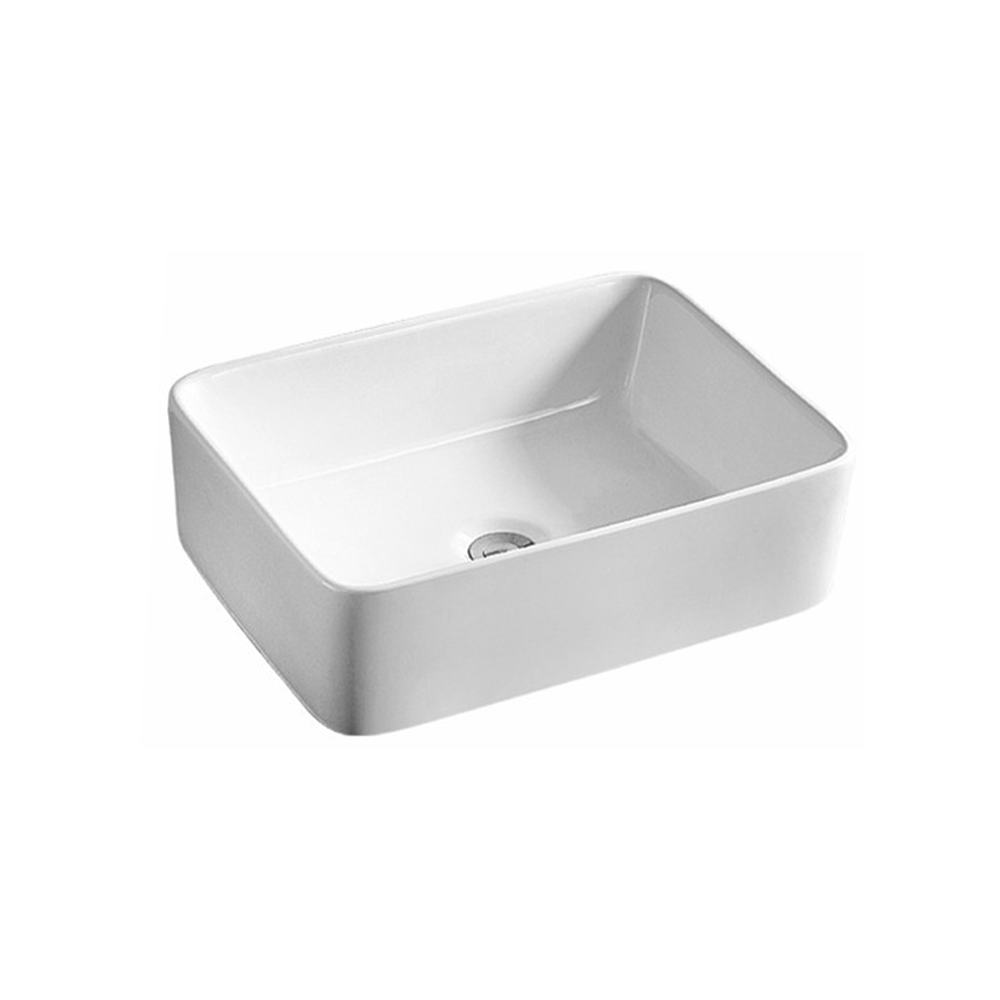 Gloss Rectangle Above Counter Basin White 475X375X130