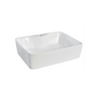 Gloss Rectangle Above Counter Basin White 480X375X135