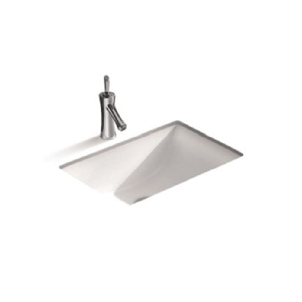 Gloss Rectangle Undermount / Counter Basin White 455X325X180