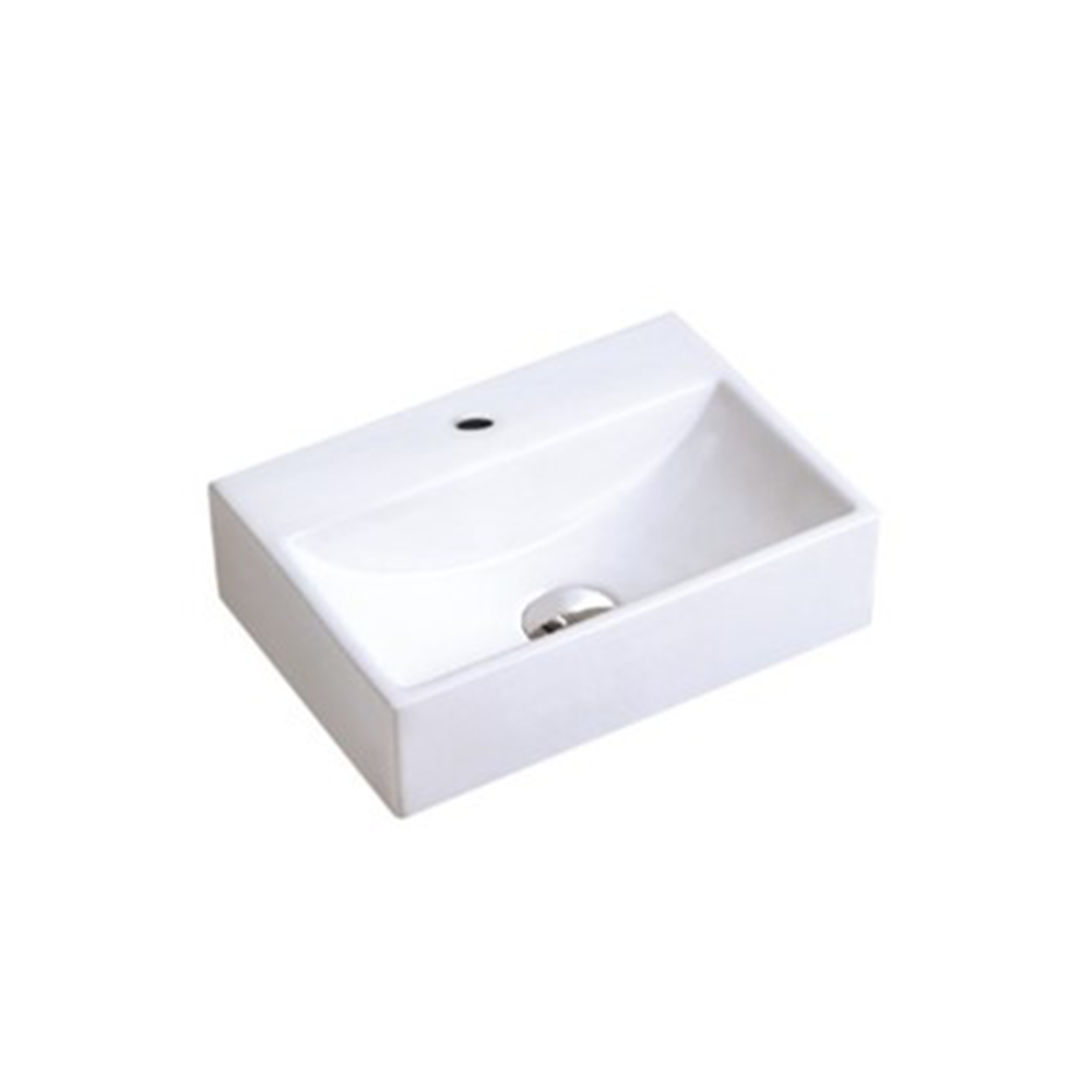 Gloss Rectangle Hand Wash Basin White 330X290X120