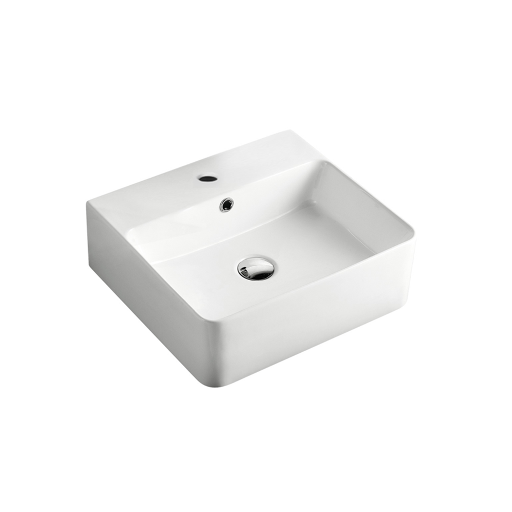 Gloss Rectangle Hand Wash Basin White 460X420X155