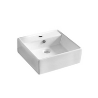 Gloss Rectangle Hand Wash Basin White 460X460X155