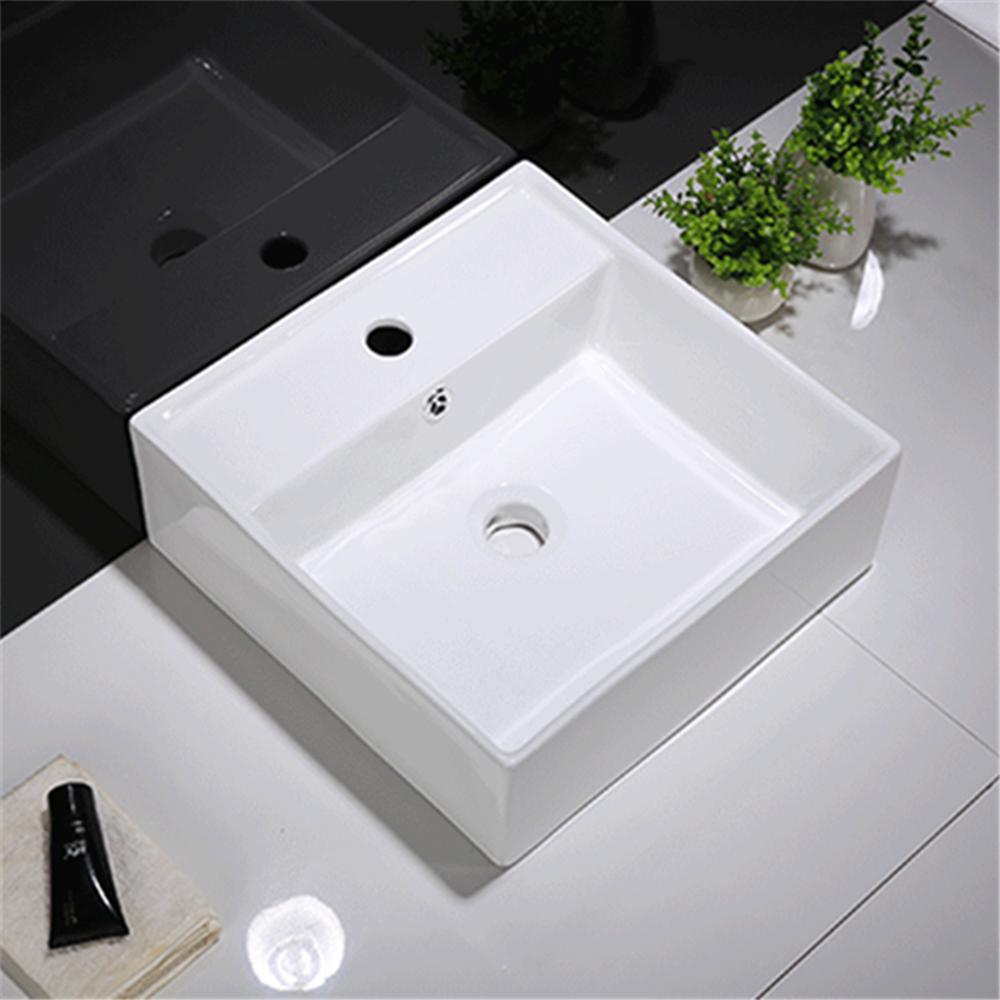 Gloss Rectangle Hand Wash Basin White 375X375X130