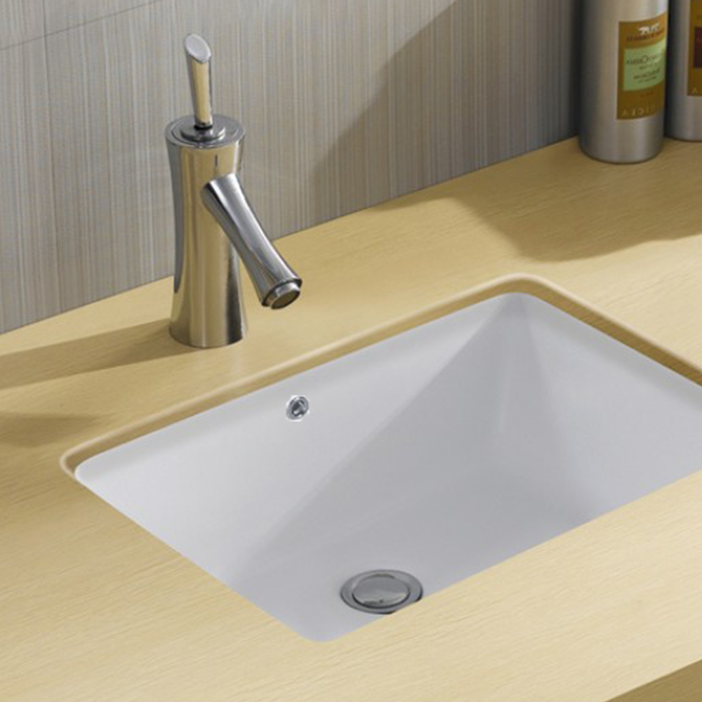 Gloss Rectangle Undermount / Counter Basin White 530X340X170