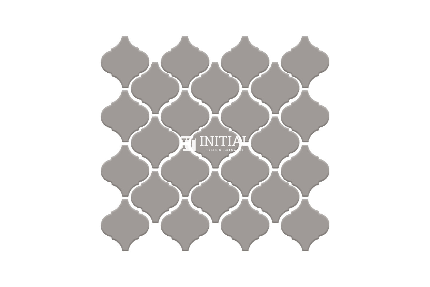 Bathroom Feature Mosaic Lantern Gloss Light Grey 75mm x 78mm
